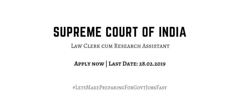 sc law clerk recruitment 2019