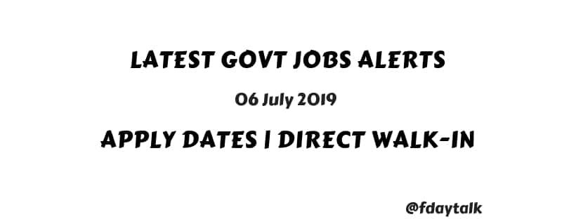 Govt Jobs Today Notifications walkins
