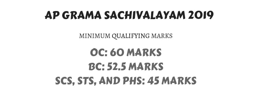 Cutoff Marks APGrama Sachivalayam 2019