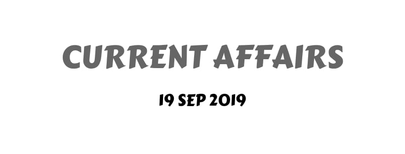 Current Affairs Month September 2019 Download