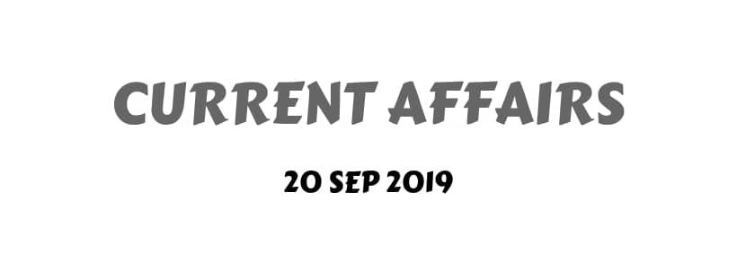 Monthly Current Affairs Download September 2019
