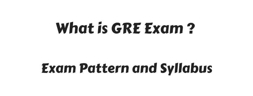 What is GRE Exam