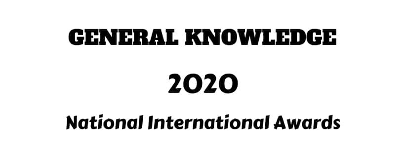 National International awards 2020