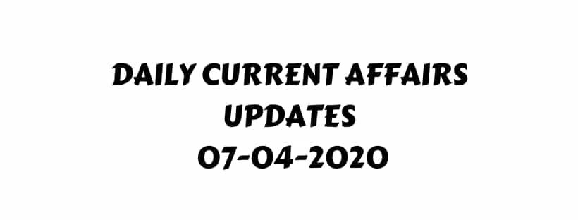 current affairs April 2020 pdf download