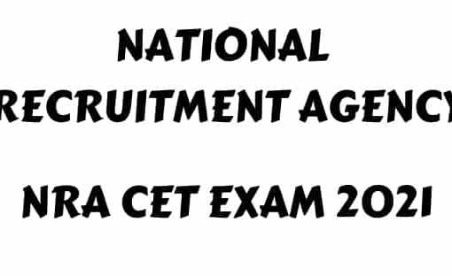 NRA CET Exam 2021