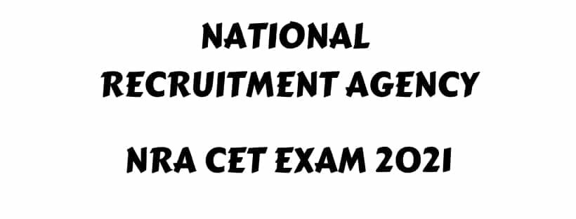 NRA CET Exam 2021