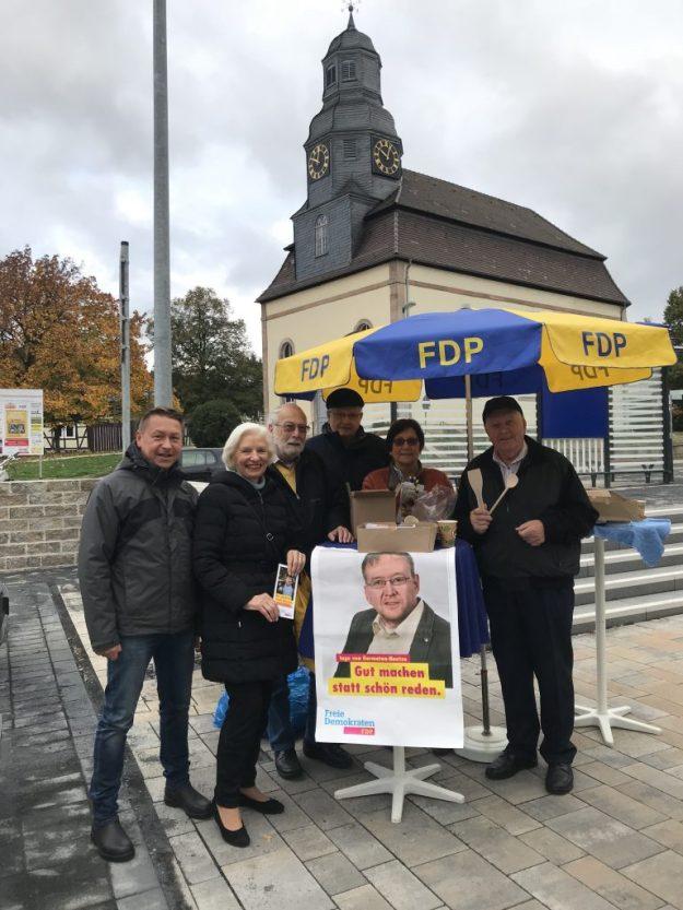 in Wahlkampfendspurt zur Landtagswahl in Hessen