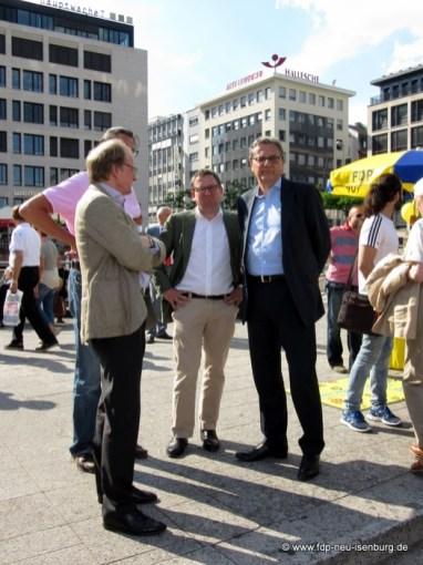Dr. Stefan Ruppert, Landesvorsitzender der FDP Hessen und Hans-Joachim Otto