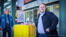 Wahlinfostand der FDP in Gravenbruch