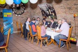 Blick in die Runde, während der Pressekonferenz der örtlichen FDP.