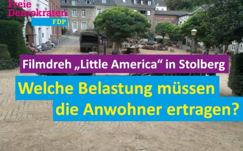 "Filmdreh ""Little America"" in Stolberg"