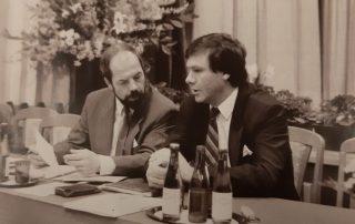 Hartmut Sieckmann und Dr. Wolfgang Gerhardt am 06.. April 1991 in Altenburg