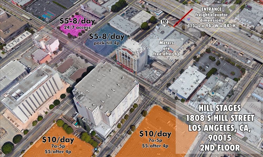 parking map for Hill Location