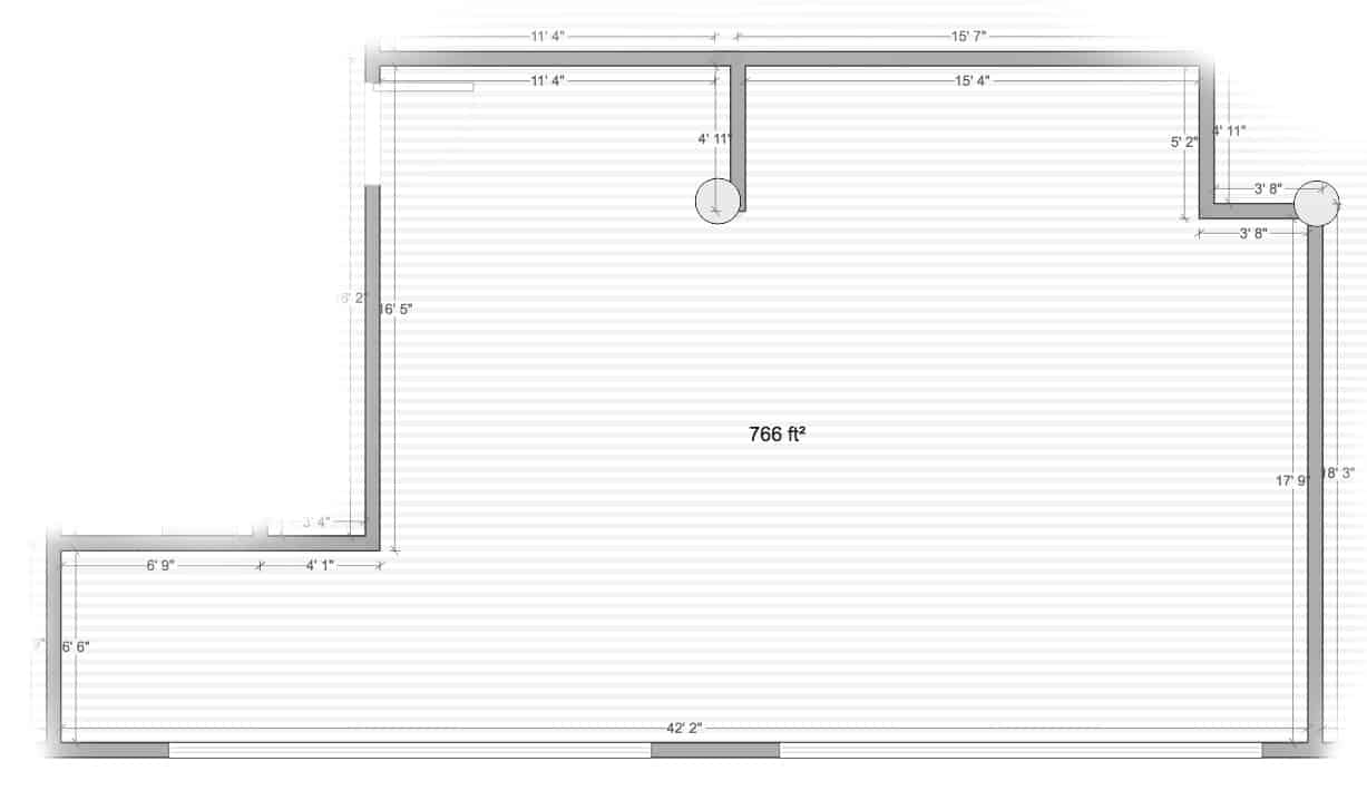 Studio 7 floor plan