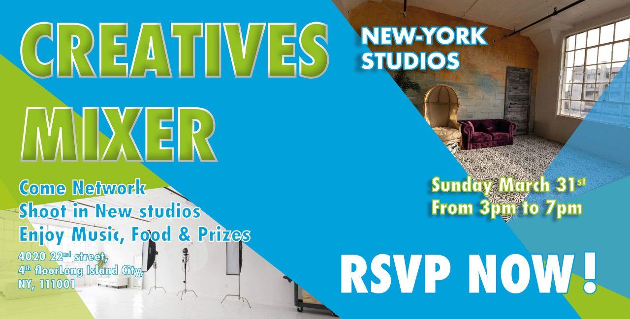 New-York Monthly Creative Mixer -studio 7, studio 1, shoot, Photographers, nyc, New York event, network, Models, mixer, mingle, Meetup, long island city, FD photo studio, creative mixer, create