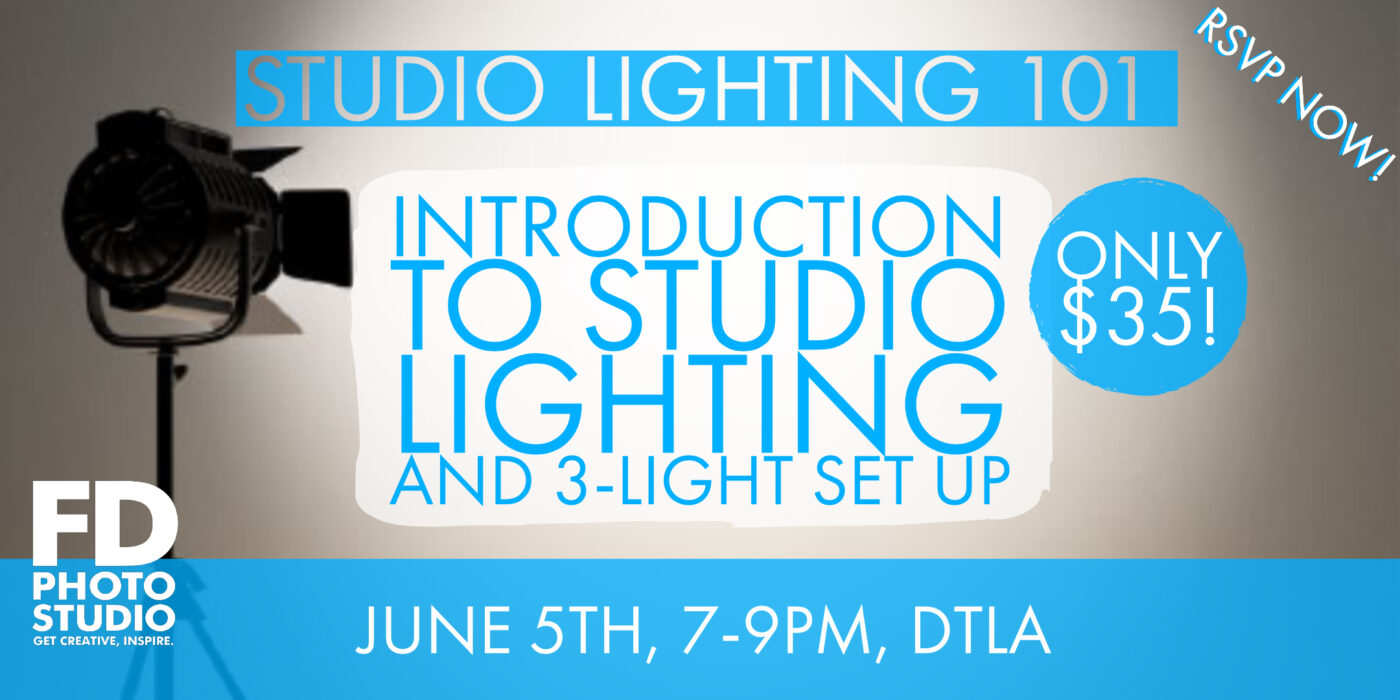 Studio Lighting 101: Introduction to Studio Lighting and 3-Light Set Up -Workshop, Toma Kostygina, Studio Lighting, FD photo studio, Class, 3 light set up