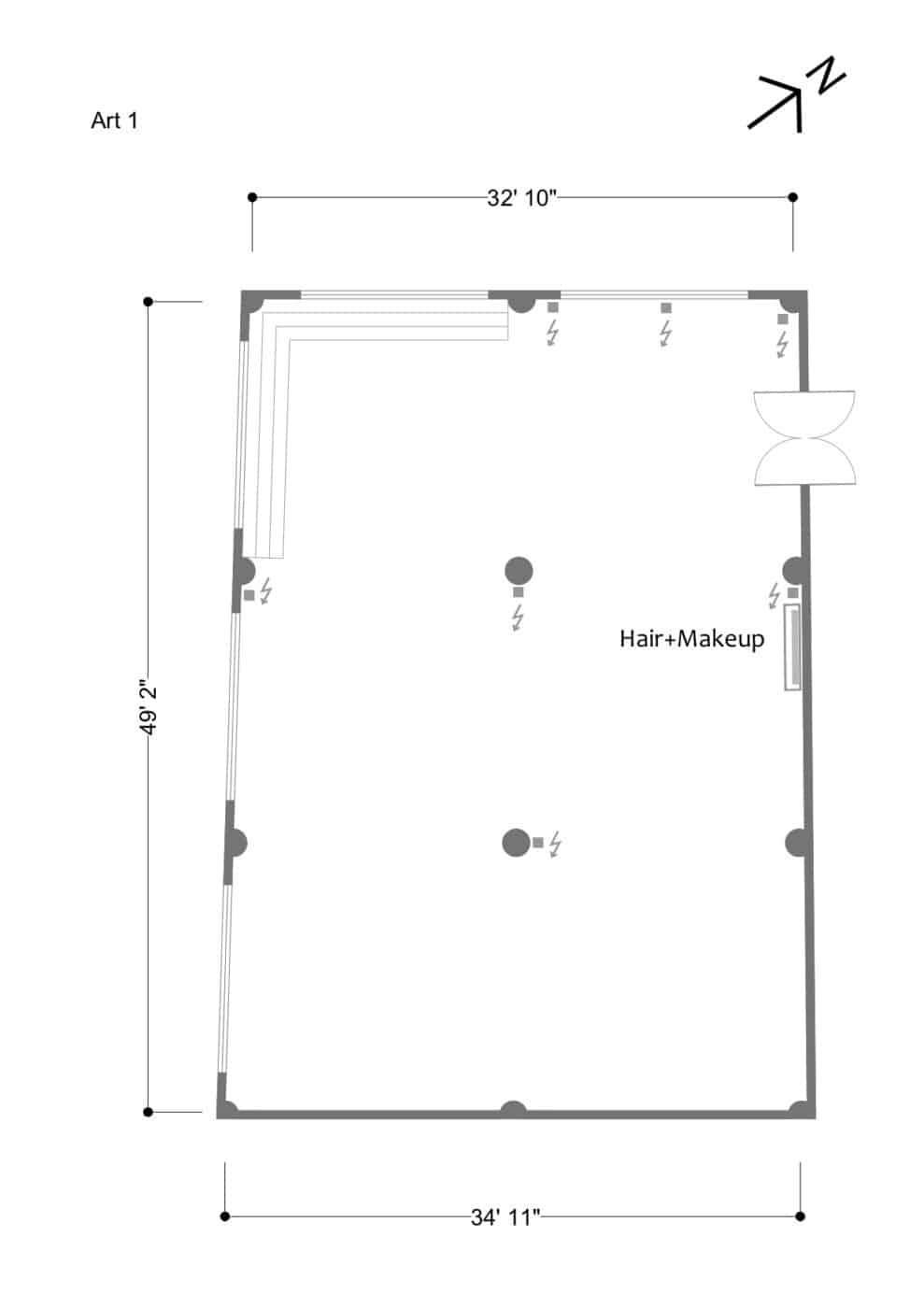 Art 1 floor plan - updated March 2019