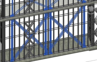 3D BIM Model for Strap Braced Walls