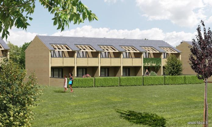 pannelli in legno blu campus