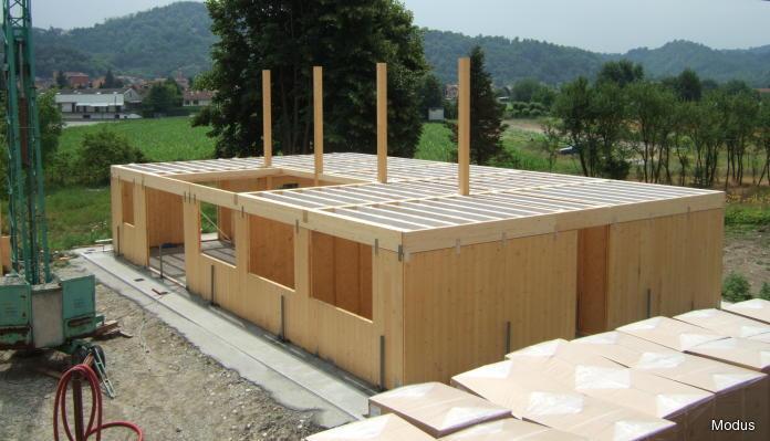 struttura di legno prefabbricata
