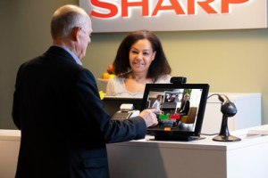 Sharp Contactless Visitor Management System