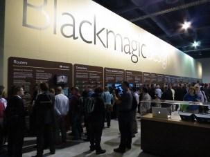 Black Magic Design booth