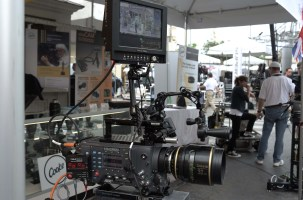 Larry Barton's Cinematography Electronics standard-of-the-industry Cine Tape Measure system on ARRI Alexa with Transvideo monitor and Cooke 5/i 32 mm.