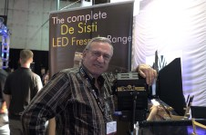 Mario Desisti with new LED Fresnel Lights