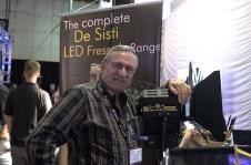 Mario Desisti with new LED Fresnel Lights