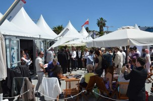 CST booth and Angenieux reception