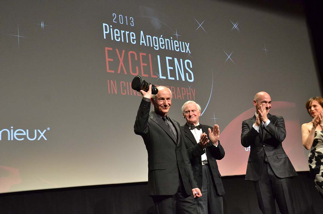 Philippe Rousselot, ASC, AFC receiving the first Angenieux ExcelLens Award for Cinematography at Cannes