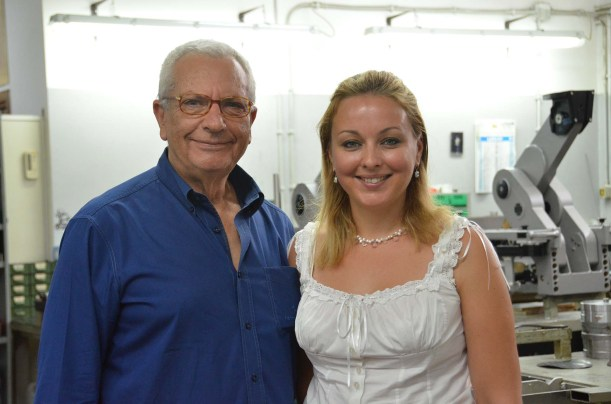 Cinetech Italiana Managing Director Armando Grottesi and Office Manager Ekaterina Dorokhina