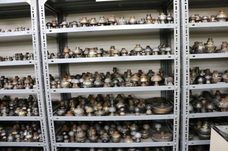 large selection of polishing tools