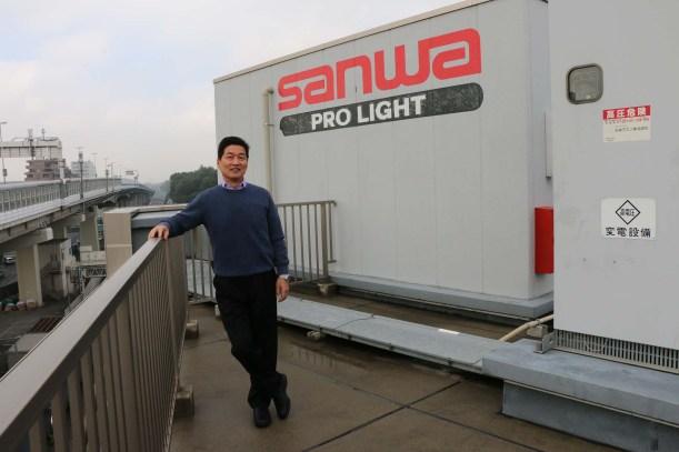 Masa Yasumoto at Sanwa's Lighting Division