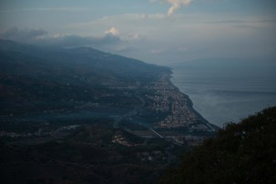 view over the Strait of Messina from Forza d'Agrò