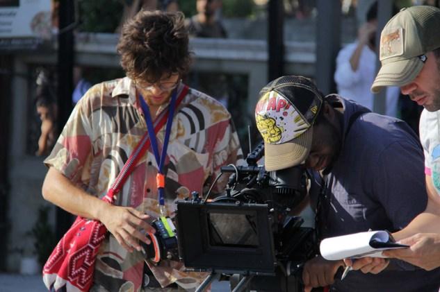 Student cinematographers Giuseppe Basile Rodriguez (Centro Sperimentale di Cinematografia) and Wilson Verstreken (NARAFI-LUCA), student director Ivan Lopez (Estudio de Cine)