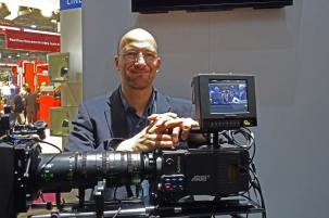 ARRI's Marc Shipman-Mueller, product manager with new Alexa SXT