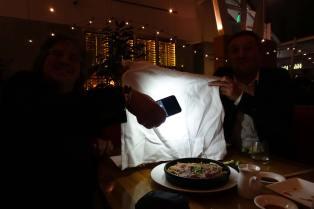 "FDT bounce light: 12x12"" napkin"