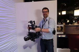 ARRI Product Manager Michael Jonas with Mini on rig