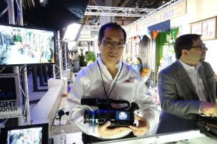 JVC's Craig Yanagi with GY-LS300
