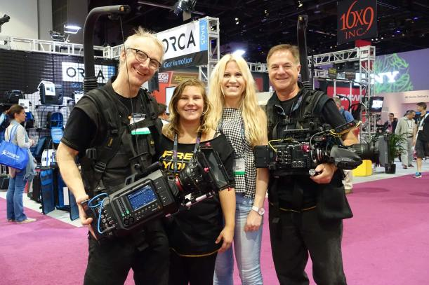 Easyrig crew in front of Band Pro