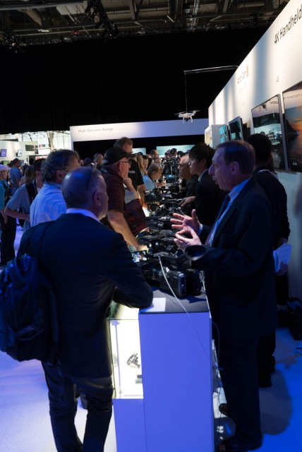 A very Busy Sony stand at NAB 2015