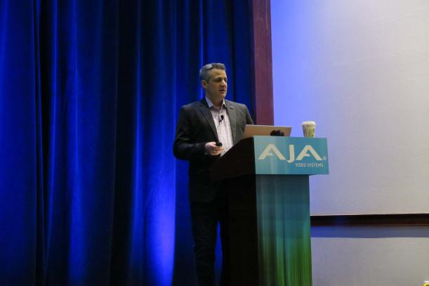 AJA's Nick Rashby kicks off NAB at 8 am Monday morning