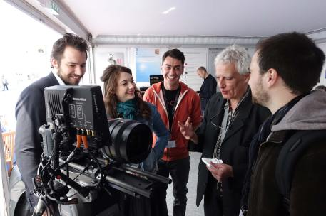 Center: Davy Terzian. Right: Jean-Yves le Poulain, of Angenieux