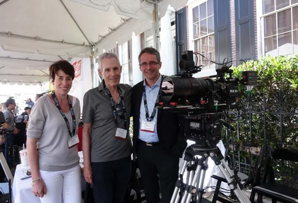 Paulette Dumerc (Angenieux VP Sales & Marketing) , Howard Preston, Pierre Andurand (pres of Angenieux)