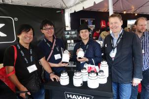Team from NAC Japan with Hawk Anamorphics. Peter Martin at right.