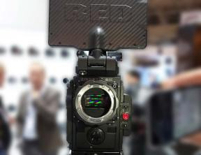 The one RED Weapon 8K camera at IBC was in the ZEISS Booth.