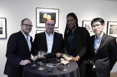 Leica Store Manager James Agnew, Aurelian Dodoc, Kimberly James, Po Liu