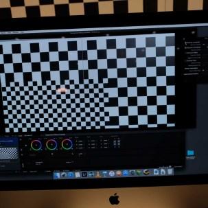 ZEISS CP.3 distortion grid on Pomfort LiveGrade