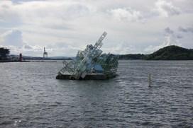 Sculpture in Oslo Harbor
